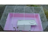 Indoor pet cage suitable for rabbits and guinea pigs