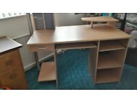 Computer Desk with Draw & Shelving