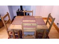 Second Hand Corona Table and 4 Chairs For Sale £60
