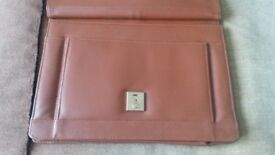 Beautiful camel colour brief case with handle, like new.