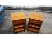 2x lovely solid pine bedside cabinets
