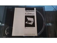 TECHNICS TURNTABLE SL-QX200