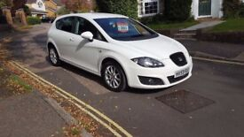 2009 SEAT LEON SE 1.9 TDI 5 DOOR HATCHBACK WHITE 1 OWNER FROM NEW FULL SERVICE HISTORY 12 MONTHS MOT