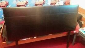 King size faux leather headboard