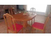 Very nice table and 4 chairs in excellent condition. Delivery can be arranged if required.