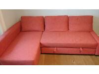 Ikea Friheten corner sofa bed w/storage