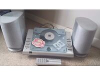 Bush Cd player and radio with speakers and remote