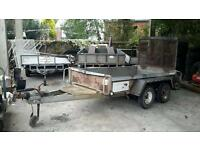 2008 indespension challenger 8x4 tandem axle general duty ramptailgate trailer 2000 kgs no vat