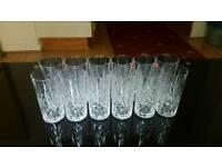 12x crystal glasses