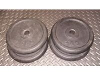 x4 Confidence 5kg Cast Iron Weight Plates for standard 1inch bars