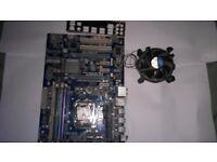 Motherboard bundle 8Gb ram kingston. Intel core i5 2400 processor 3.10 ghz. Gigabyte GA-P67A-UD3