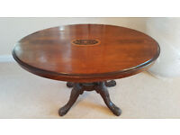 Antique Inlaid Oval Mahogany Occasional/ ''Loo'' Table