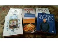 Assorted cookery books Jamie Oliver x 4, Rick Stein x 1, 2 x mini Hamlyn
