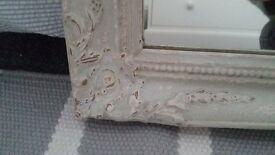Shabby chic pine painted mirror