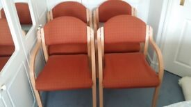 4 stackable office style chairs. Buyer to collect. £20. Good condition.