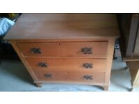 solid wooden chest of drawers in good vintage condition EMPINGHAM