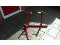 Abba motorcycle stand, front arm lift and Jack