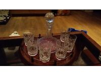 Waterford crystal decanter set
