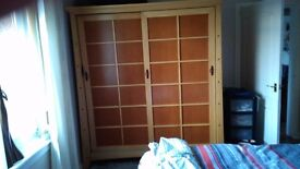 Double Japanese Style Wardrobe Great Condition!