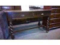 2 drawer oak table