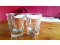 Pair of brand new Jim Beam bourbon / whiskey glasses
