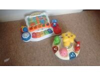 Baby piano and spinning toy