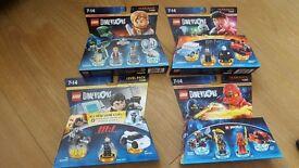 LEGO Dimensions brand new (jurassic world, mission impossible,harry potter, ninjago)
