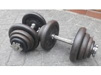 40KG YORK CAST IRON DUMBBELL WEIGHTS SET - 2 x 20KG