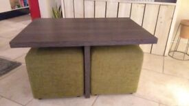 Coffee Table with Footstools