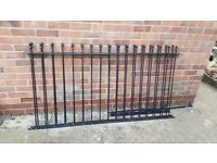"""2 Galvanised metal fence panels 36"""" x 72"""" with wall fixings and bolts OPEN TO OFFERS"""