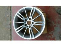 "Genuine Bmw 18"" Mv3 ( Style 193 ) Rear 8.5J Alloy Wheel"