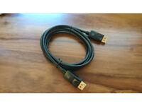 DisplayPort to DisplayPort cable (ca 1.8m)