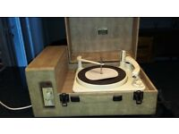 Vintage 1950s Dansette record player