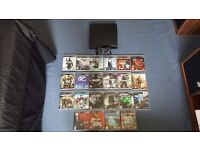 Playstation 3 + 22 games + controller, no power cable