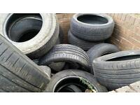 Used tyres all different makes and sizes