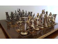 Metal Roman Chess Set