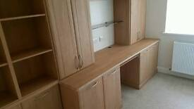 Hammond Fitted Office Wall Units and Desk Libretto