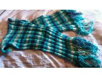 Hand knitted long scarf