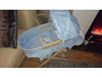 Dolls moses basket and stand