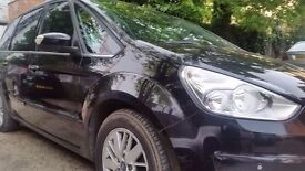 ford galaxy 2006 diesel black fully loaded leather sat nav blue tooth year m.o.t genuine mileage
