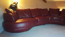 7 seat leather corner sofa