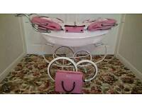 SILVER CROSS DOUBLE DOLLS PRAM