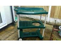Potting trolley table