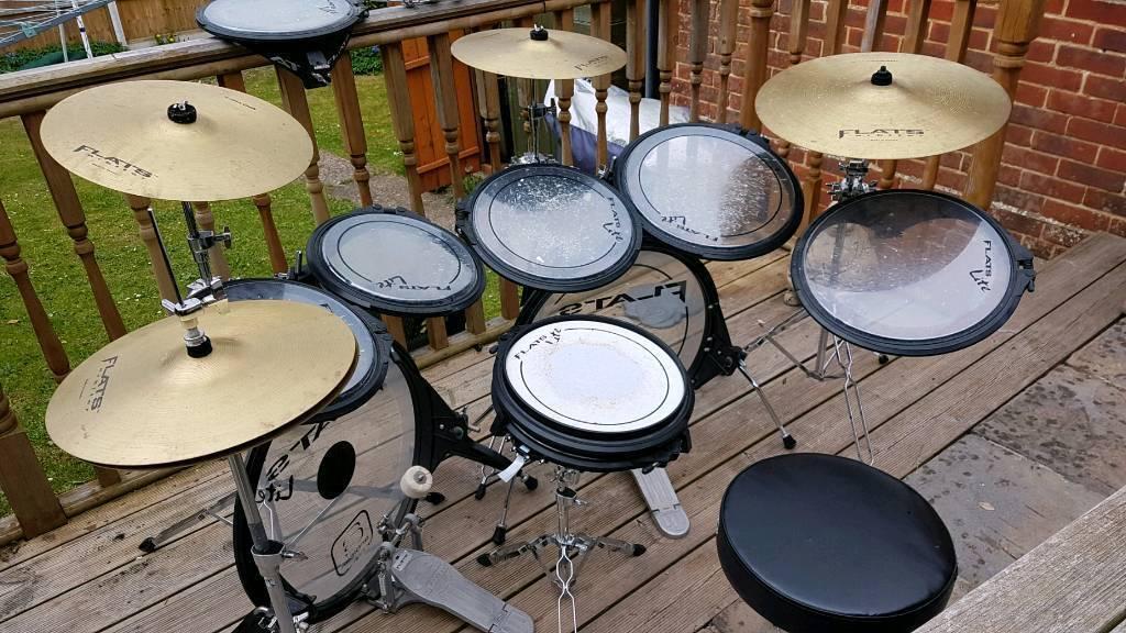 arbiter flats lite double kick drum kit in salisbury wiltshire gumtree. Black Bedroom Furniture Sets. Home Design Ideas