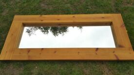 LOVELY LARGE RUSTIC /FARMHOUSE/WOODEN FLOOR/WALL MIRROR