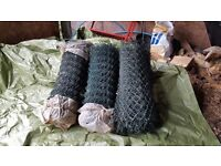 Plastic-coated, wire mesh fencing (three reels, green)