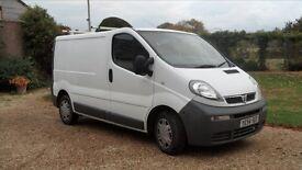 Vauxhall Vivaro panel Van, '54 plate, 12 months MOT, good condition.