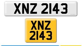 XNZ 2143 private Cherished personal personalised registration plate number