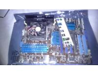 Motherboard+AMD Piledriver 6300 CPU also 8Gb DDR3 Memory on board