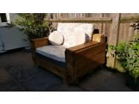 Quality Wooden Garden Sofa